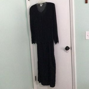 Stenay Woman size 20 full length beaded gown